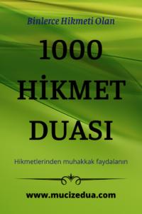 1000 Hikmet Duası