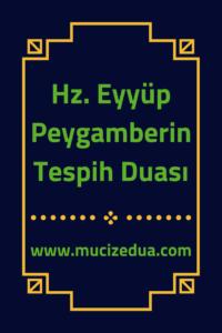 Hz. Eyüp Peygamberin Tespih Duası