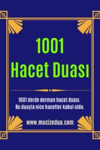 1001 Hacet Hacet Duası